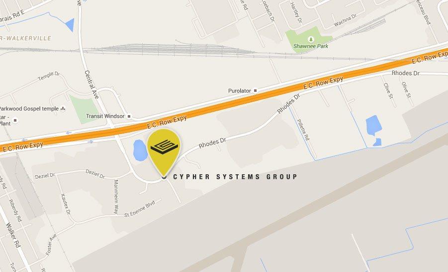 3600 Rhodes Drive Map
